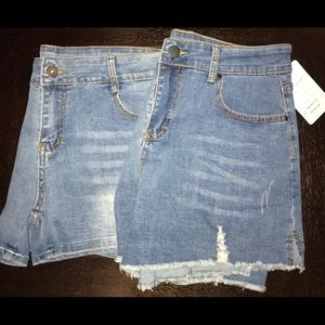 Two pair of Jean shorts size 8 US size 12 UK NWT